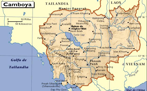 Mapa De Camboya Mapas Mapamapas Mapa