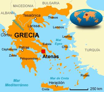 Grecia Capital Atenas Limites Limita Al Noroeste Co