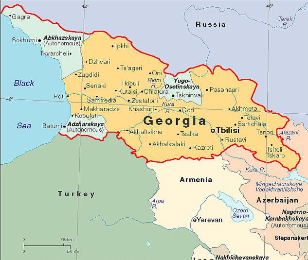Mapas de europa mapas mapa for Georgia fotos