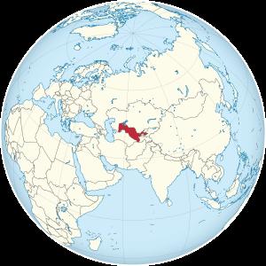 Mapa de Usbekistan