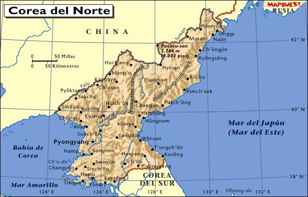 Mapa De Corea Del Norte Archivos Mapas Mapamapas Mapa