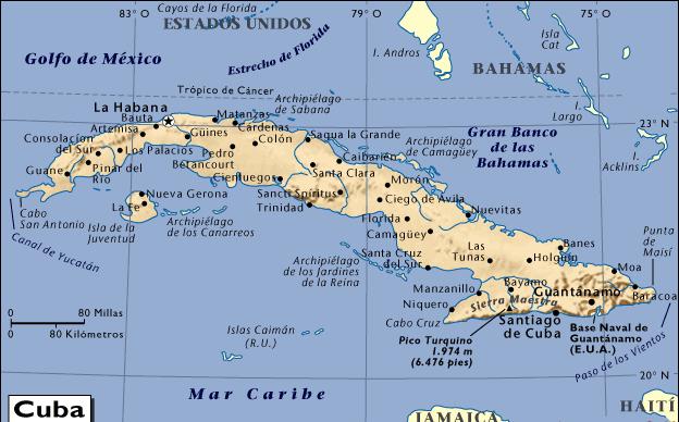 MAPA DE CUBA - MAPAS MAPAMAPAS MAPA