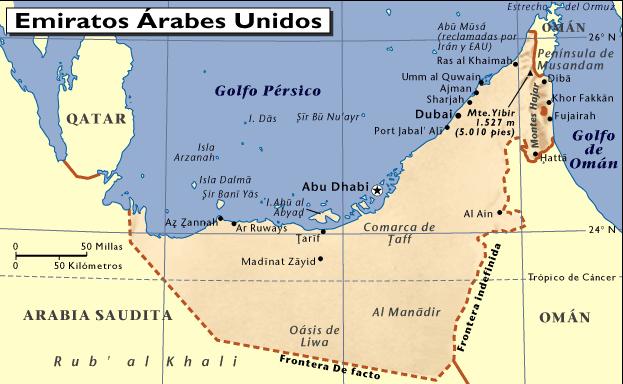 Datos De Mapa De Emiratos Arabes Unidos Archivos Mapas Mapamapas